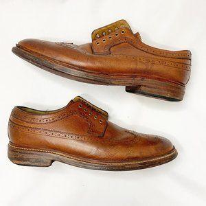 Grenson Sid Long Wing Brouge Wingtip Shoes Brown